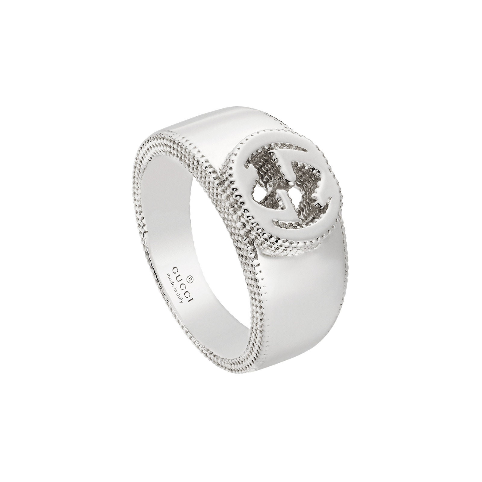 Gucci Interlocking G Ring in Silver - Ring Size O