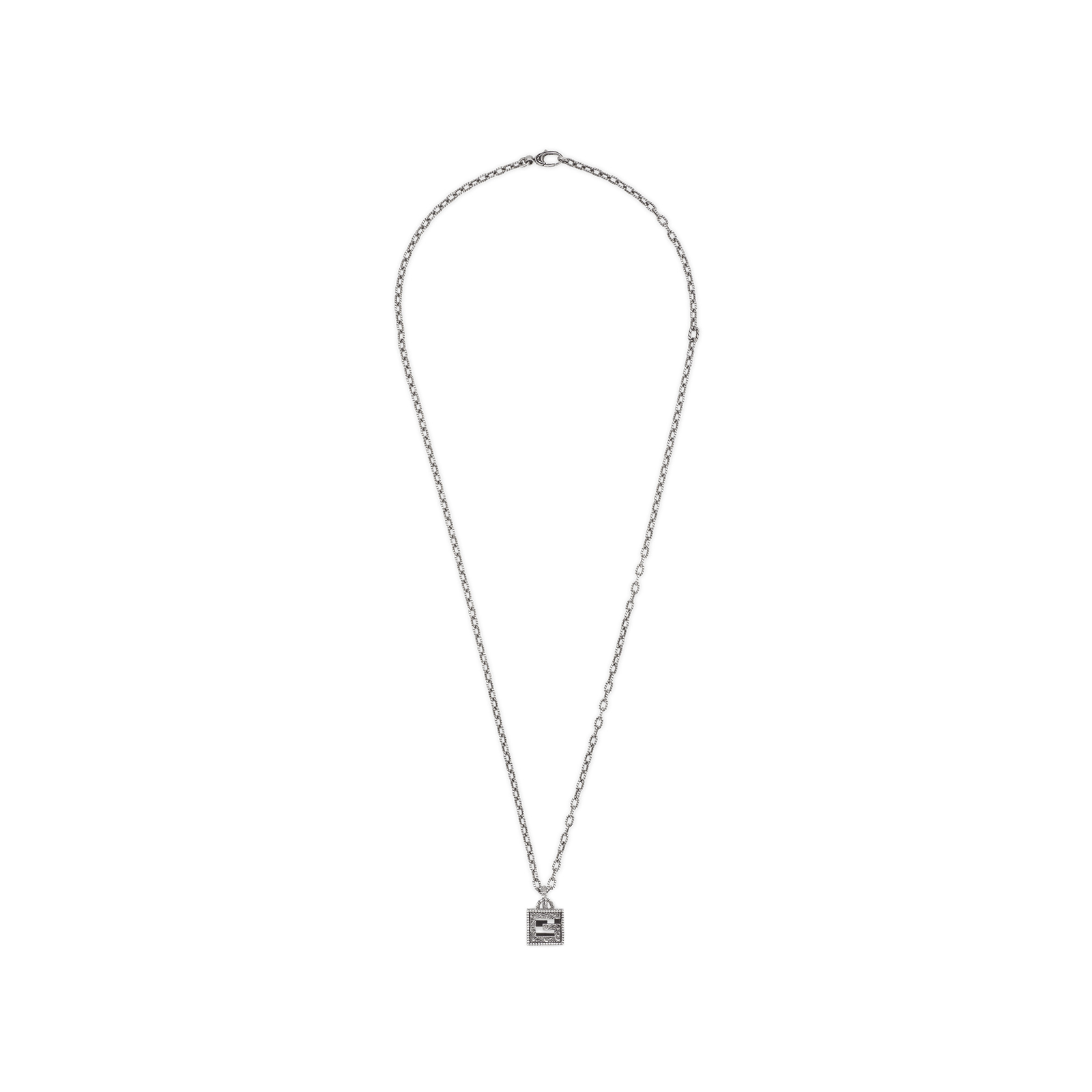 5a5f87d4a Gucci Necklace with Square G Cross in Silver | Necklaces | Jewellery |  Goldsmiths