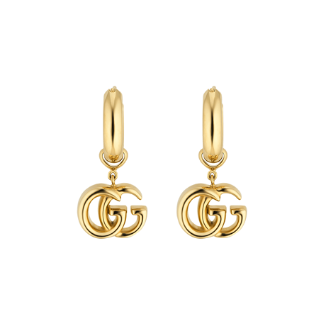 Gucci GG Running 18ct Yellow Gold Earrings