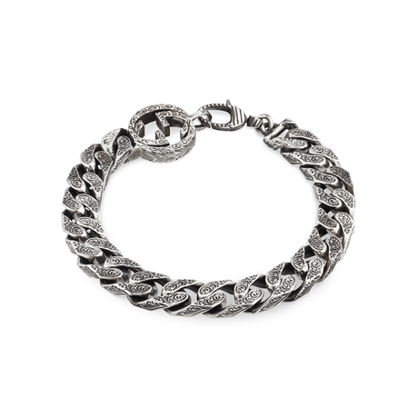 Gucci Interlocking G Chain Bracelet in Silver