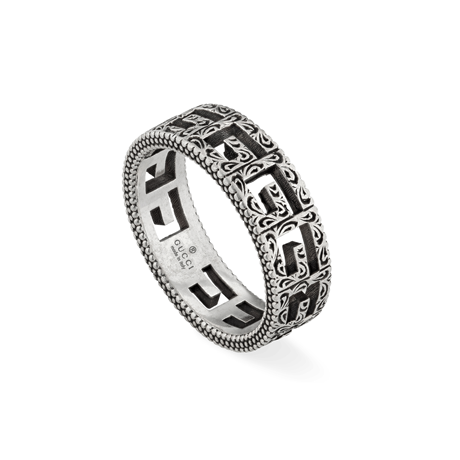Gucci Silver Ring with Square G