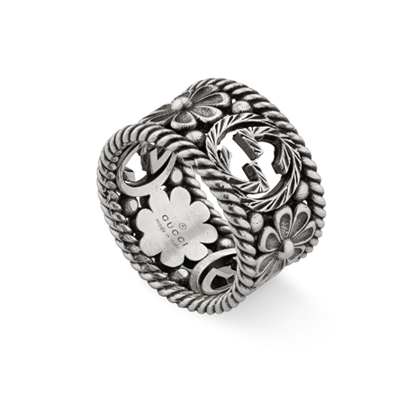 Gucci Interlocking G Silver Ring