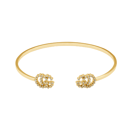 Gucci GG Running 18ct Yellow Gold Diamond Bracelet