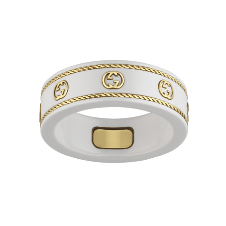 Gucci Icon 18ct Yellow Gold Interlocking G Ring