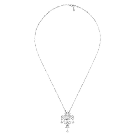 Gucci 18ct White Gold Flora 1.70ct Necklace