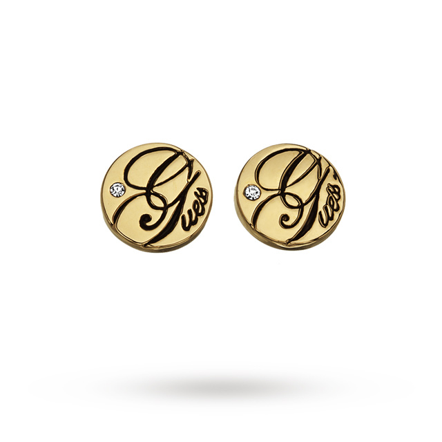 Image of  			   			  			   			  Guess All Mixed Up Mini Disc Stud Earrings