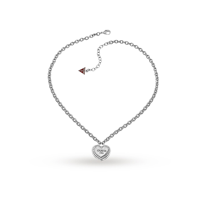 Image of  			   			  			   			  Guess 1981 Stainless Steel Heart Necklace