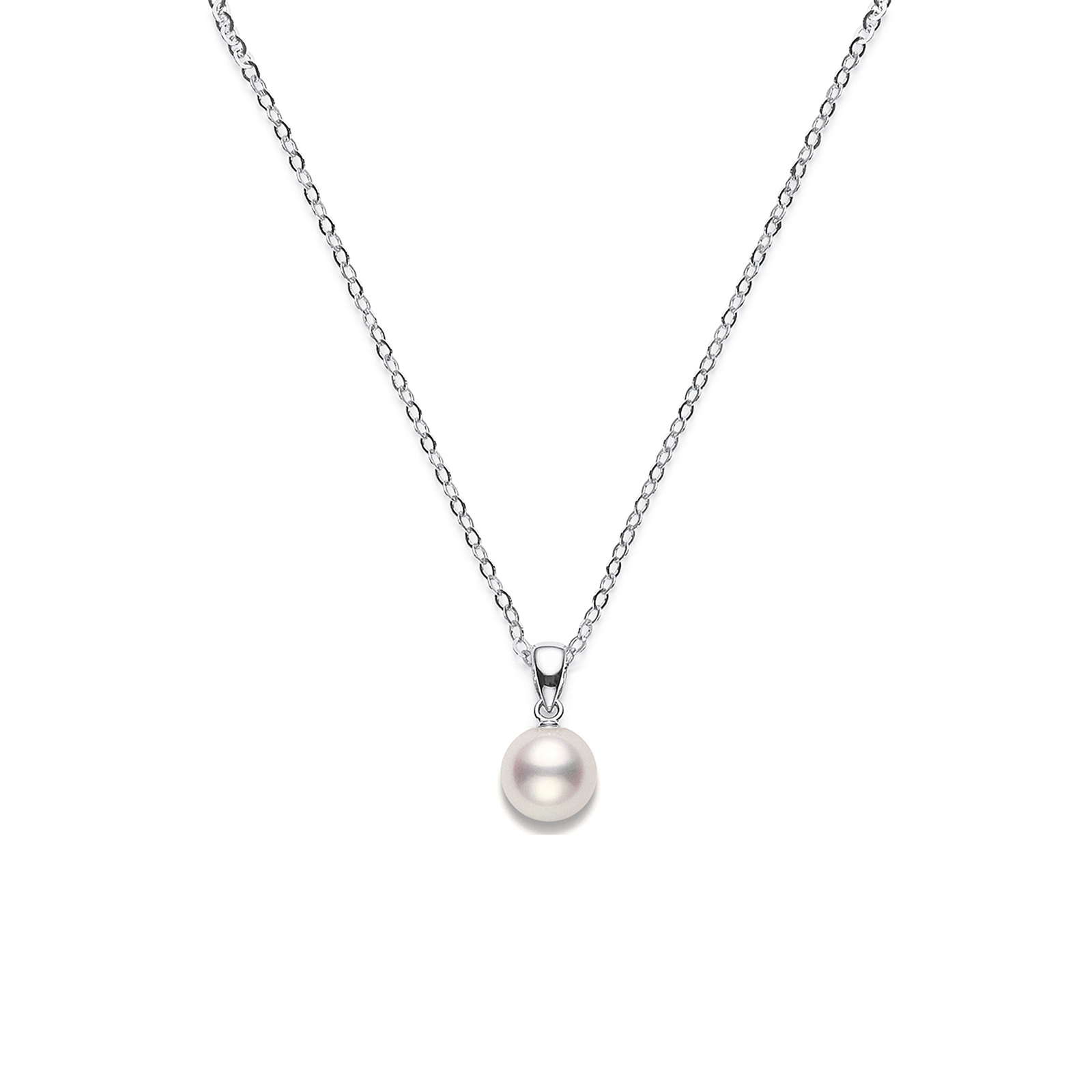 lyst gold necklace sea white pearl cultured round pendant black jewelry south mikimoto