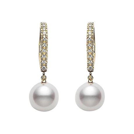 Mikimoto Classic Elegance Collection Lever Back Earrings