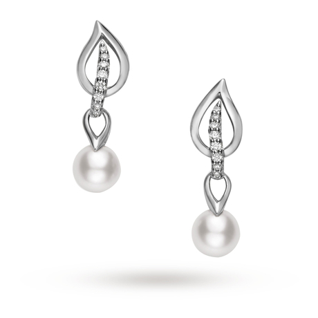 Mikimoto Laurel Collection Earrings
