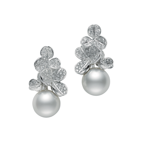 Mikimoto Fortune Leaves Earrings