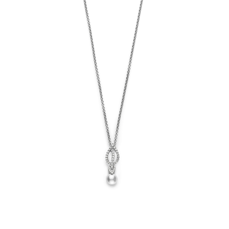 Mikimoto Laurel Collection Akoya Pearl & Diamond Pendant