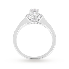 Jenny Packham Brilliant Cut 0.45 Carat Total Weight Diamond Art Deco Style Ring in 18 Carat White Gold
