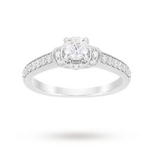 Jenny Packham Brilliant Cut 0.85 Carat Total Weight Diamond Art Deco Style Ring in 18 Carat White Gold