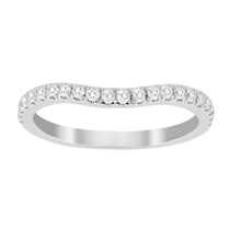 Jenny Packham Brilliant Cut 0.23 Carat Total Weight Contour Wedding Ring in 18 Carat White Gold