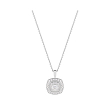 Jenny Packham 18ct White Gold 0.35 Carat Total Weight Cushion Cut Double Halo Diamond Necklace