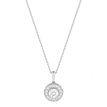 Jenny Packham 18ct White Gold 0.23 Carat Total Weight Brilliant Cut Halo Diamond Necklace