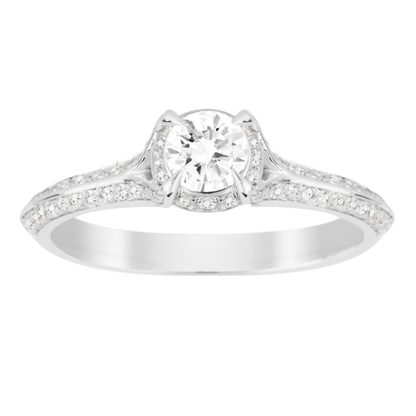 Jenny Packham Brilliant Cut 0.56 Carat Total Weight Solitaire Diamond Ring in 18 Carat White Gold
