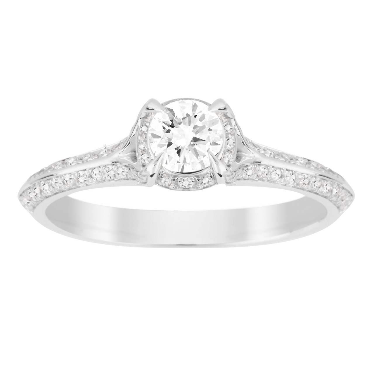 stone three gold product carat diamond white in rings engagement ring