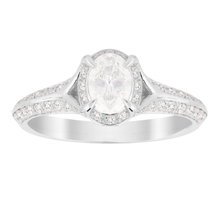 Jenny Packham Oval Cut 0.85 Carat Total Weight Solitaire Diamond Ring in 18 Carat White Gold