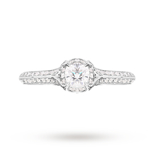 Jenny Packham Brilliant Cut 0.56 Carat Total Weight Solitaire Diamond Ring in Platinum