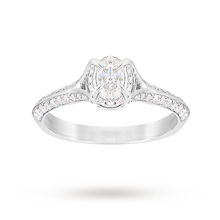 Jenny Packham Oval Cut 0.56 Carat Total Weight Solitaire Diamond Ring in Platinum