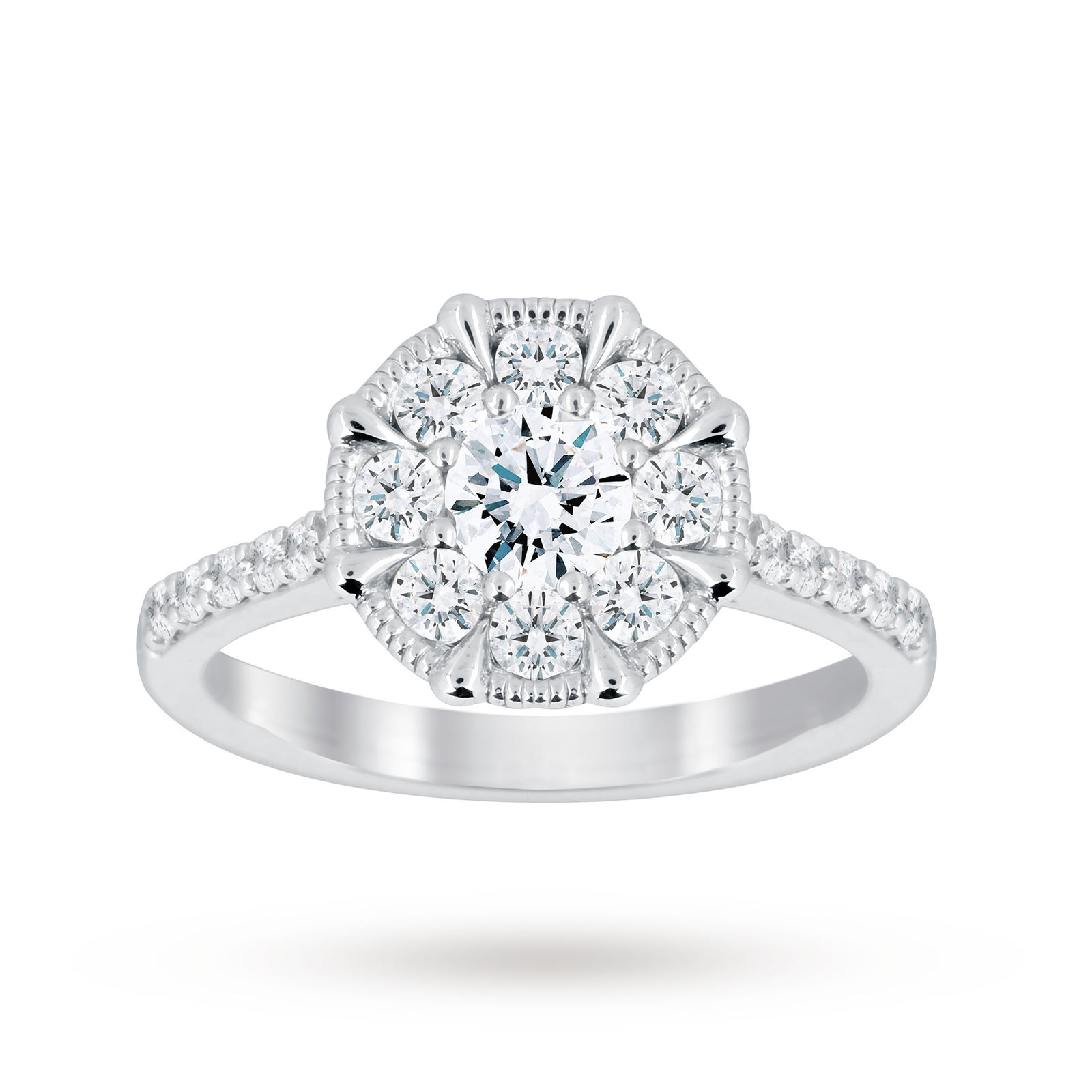 gold rings product ring carat three in engagement white diamond stone
