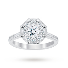 Jenny Packham 18 Carat White Gold 0.50 Carat Diamond 8 Claw Multi Stone Ring