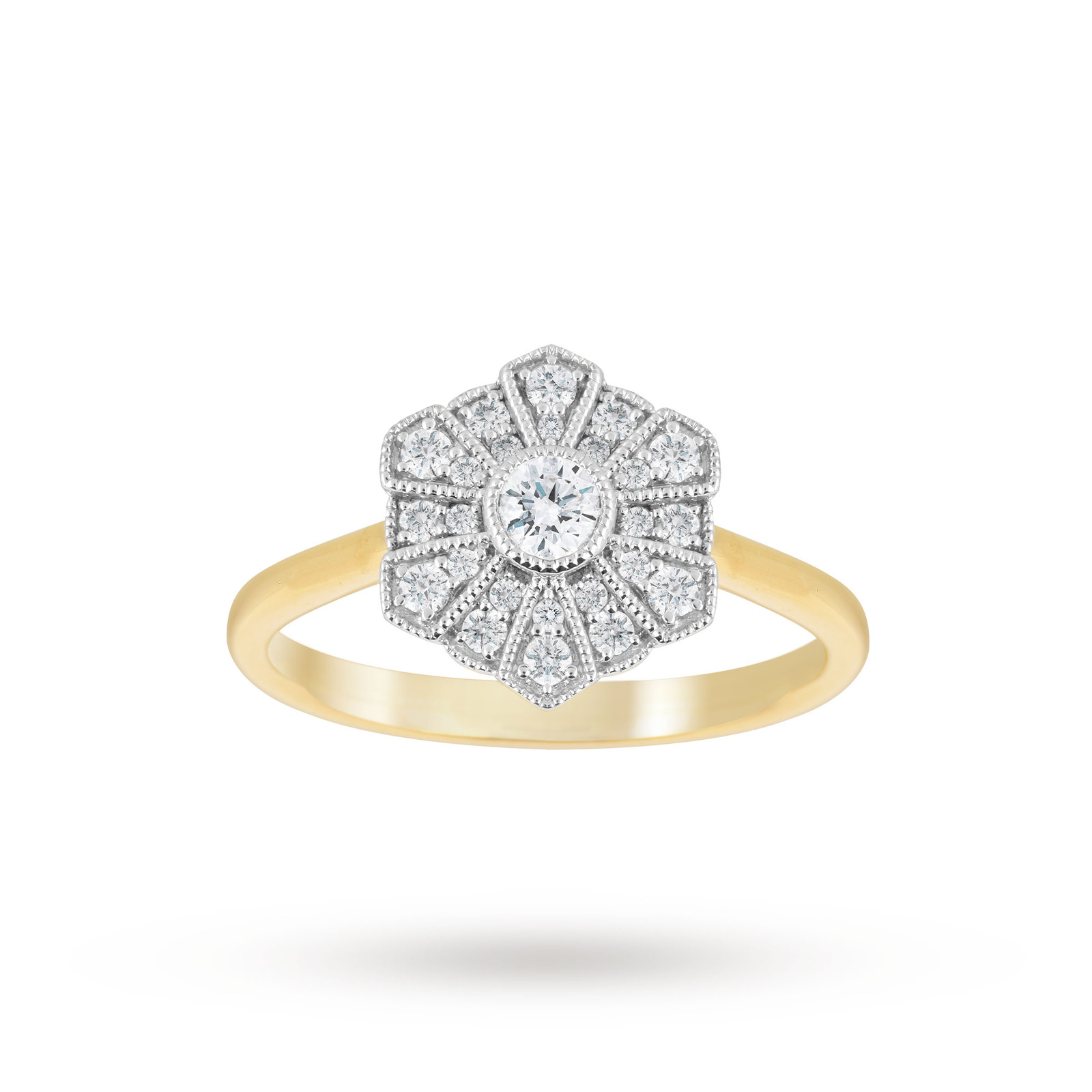 click rings diamond cluster gold zoom white to ring carat