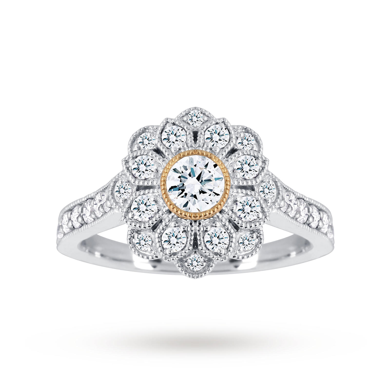 product style platinum ring set for rings band milgrain wedding mercury phyllis bergman bezel