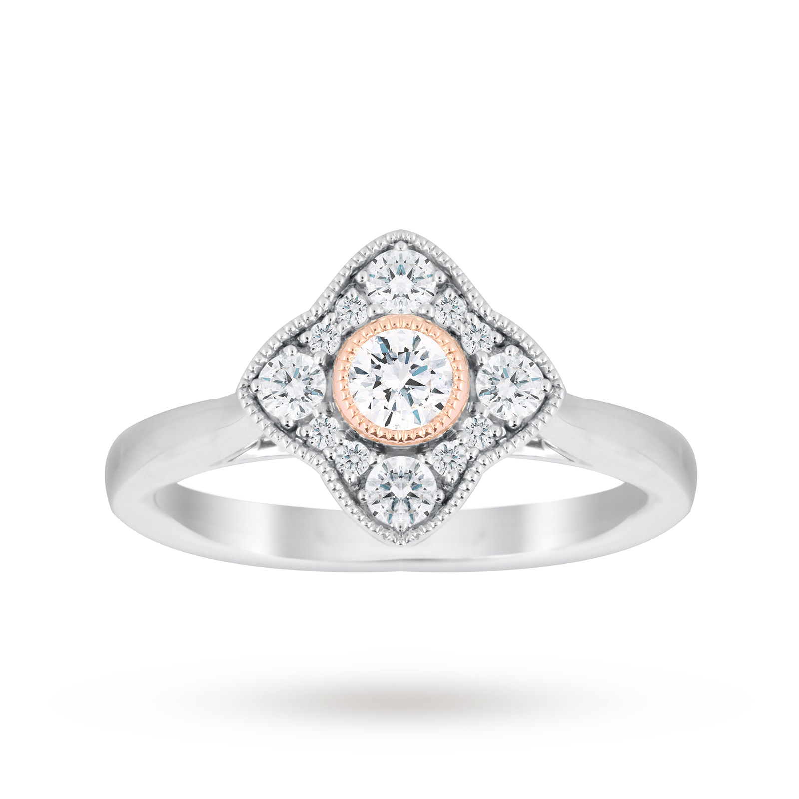 wedding round henri diamond bkjf antique engagement daussi rings halo milgrain ring