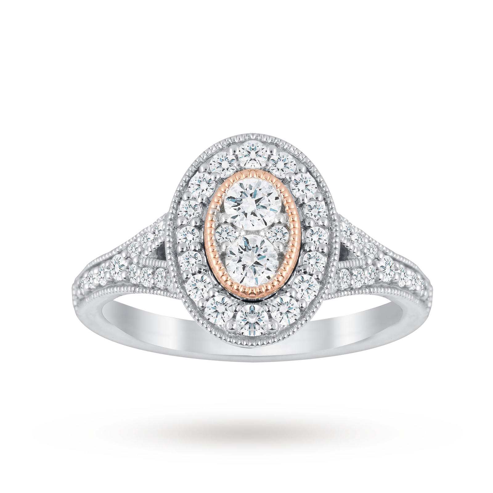 shank pave gold rings diamond oval white halo gabriel engagement ring and