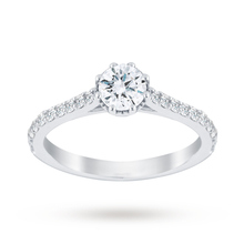 Jenny Packham Platinum 0.75 Carat Diamond 8 Claw Single Stone Ring