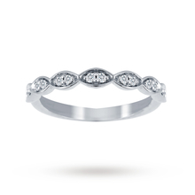 Jenny Packham 18ct White Gold 0.14cttw Band Ring