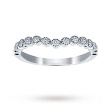 Jenny Packham 18ct White Gold 0.20cttw Bead Edge Band Ring - M37410196
