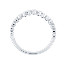 Jenny Packham 18ct White Gold 0.20cttw Bead Edge Band Ring