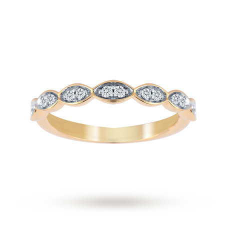 Jenny Packham 18ct Yellow Gold 0.14cttw Band Ring - M37410197
