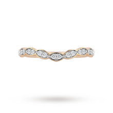Jenny Packham 18ct Yellow Gold 0.15cttw Dip Band Ring