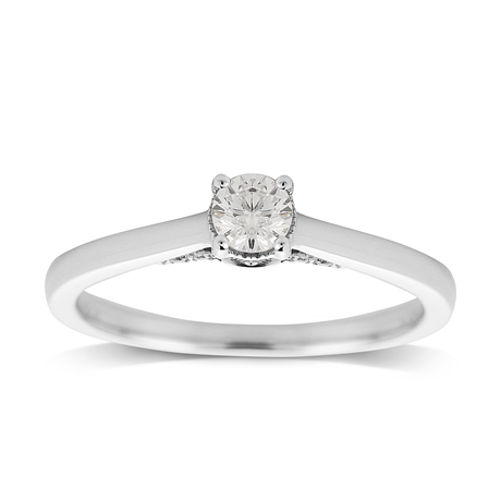 Jenny Packham 18ct White Gold 0.33cttw Diamond Ring