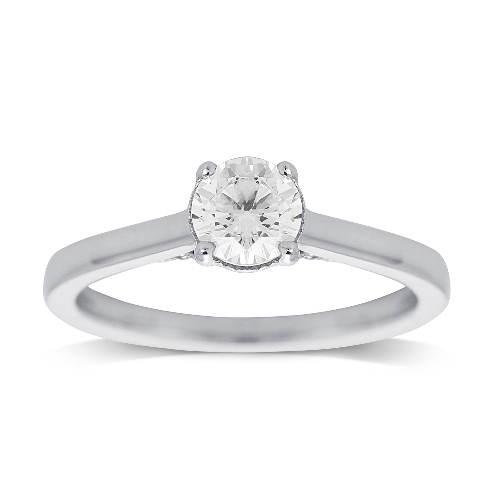 Jenny Packham 18ct White Gold 0.65ct Diamond Ring - Ring Size J