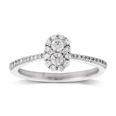 Jenny Packham 18ct White Gold 0.50ct Flower Cluster Diamond Ring