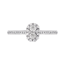 Jenny Packham 18ct White Gold 0.50cttw Flower Cluster Diamond Ring