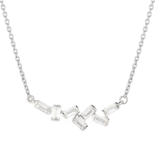For Her - Jenny Packham 9ct White Gold 0.16cttw Baguette Necklace - 37410230