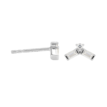 Jenny Packham 9ct White Gold 0.12cttw Baguette Stud Earrings