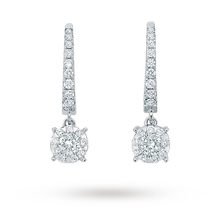 Mappin & Webb Brilliant Cut 0.48ct Diamond Drop Earrings
