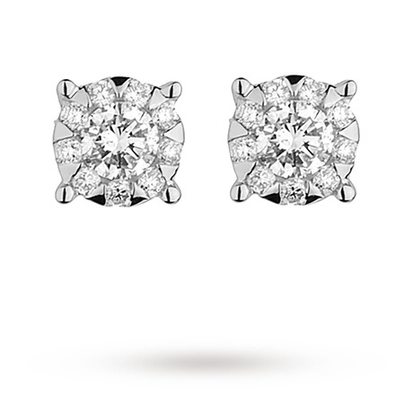 Mappin & Webb Masquerade 0.67ct Diamond Stud Earrings