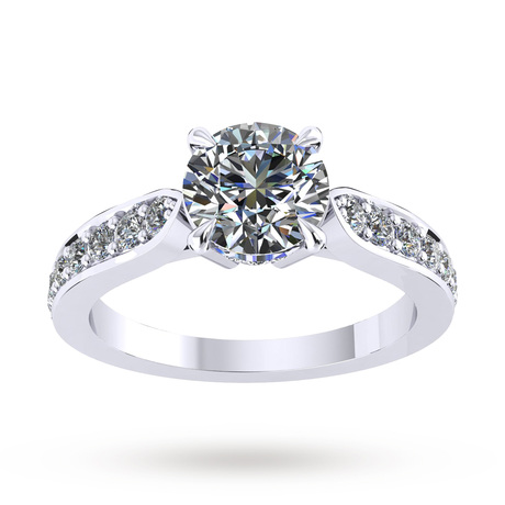 Boscobel Engagement Ring With Diamond Band 0.42 Carat Total Weight