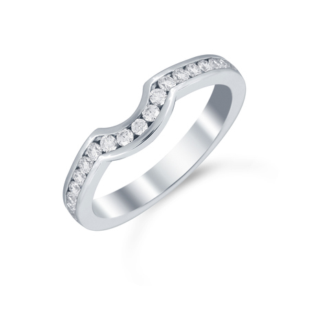 Platinum 0.32cttw Diamond Belvedere Wedding Ring
