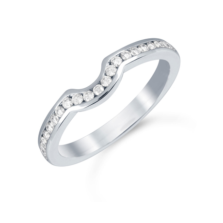Platinum 0.24cttw Diamond Belvedere Wedding Ring
