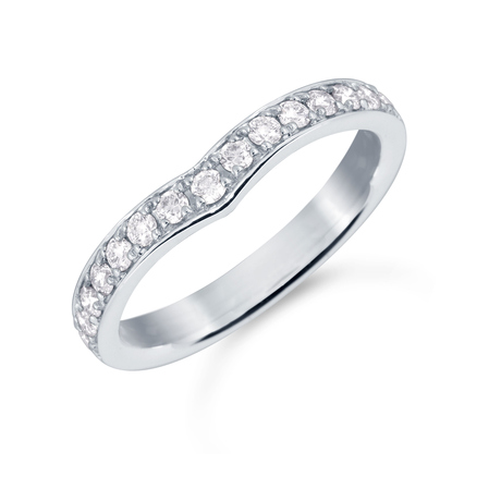 Platinum 0.37cttw Diamond Ena Harkness Wedding Ring